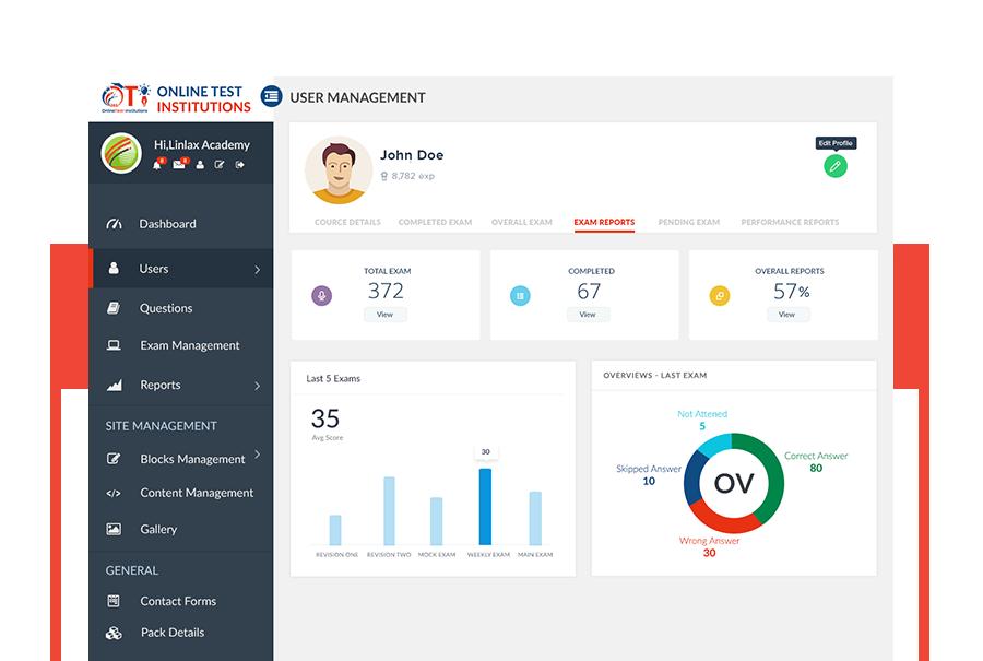 Online software for student management.